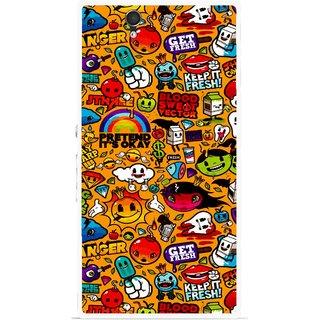Snooky Printed Freaky Print Mobile Back Cover For Sony Xperia Z - Multicolour