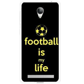 Snooky Printed Football Is Life Mobile Back Cover For Vivo Y28 - Multicolour