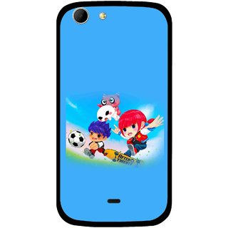 Snooky Printed Childhood Mobile Back Cover For Micromax Canvas 4 A210 - Multicolour
