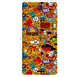 Snooky Printed Freaky Print Mobile Back Cover For Sony Xperia ZR - Multicolour