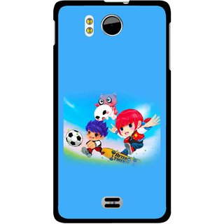 Snooky Printed Childhood Mobile Back Cover For Micromax Canvas DOODLE A111 - Multicolour