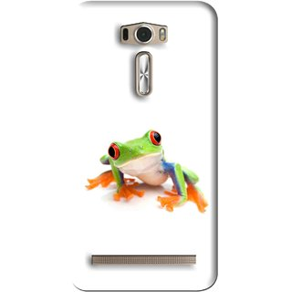 Snooky Printed Frog Mobile Back Cover For Asus Zenfone 2 Laser ZE601KL - Multi