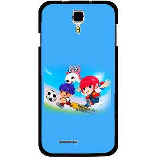 Snooky Printed Childhood Mobile Back Cover For Micromax Canvas Juice A177 - Multicolour