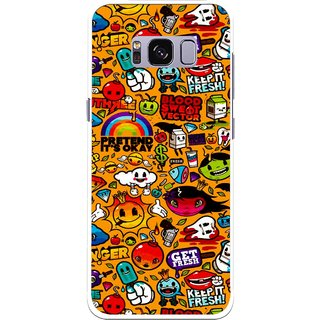 Snooky Printed Freaky Print Mobile Back Cover For Samsung Galaxy S8 Plus - Multicolour