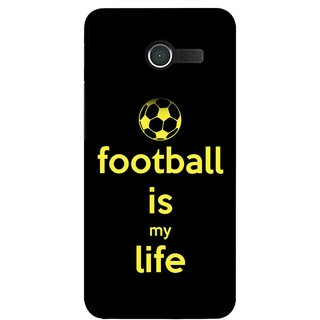 Snooky Printed Football Is Life Mobile Back Cover For Asus Zenfone 4 - Multicolour