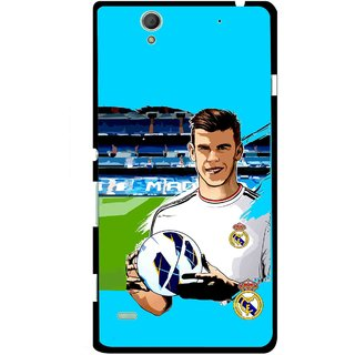 Snooky Printed Football Champion Mobile Back Cover For Sony Xperia C4 - Multicolour
