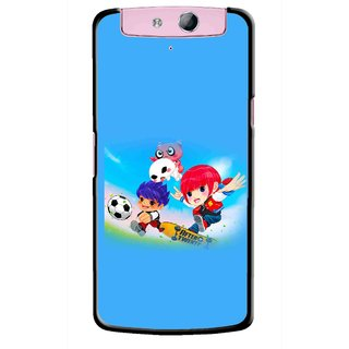 Snooky Printed Childhood Mobile Back Cover For Oppo N1 - Multicolour
