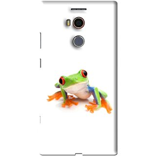 Snooky Printed Frog Mobile Back Cover For Gionee Elife E8 - Multi