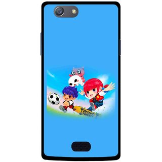 Snooky Printed Childhood Mobile Back Cover For Oppo Neo 5 - Multicolour