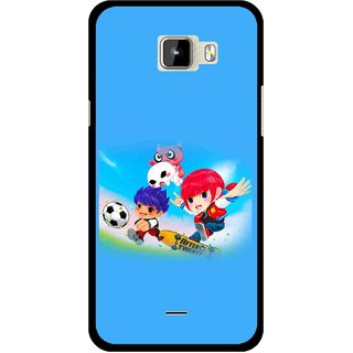 Snooky Printed Childhood Mobile Back Cover For Micromax Canvas Nitro A310 - Multicolour