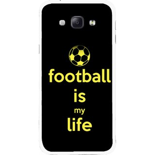 Snooky Printed Football Is Life Mobile Back Cover For Samsung Galaxy A8 - Multicolour