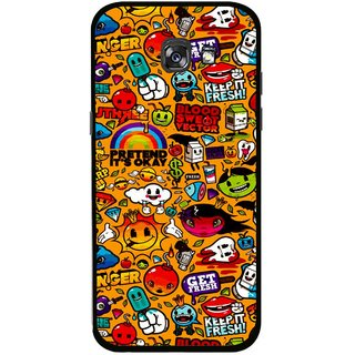 Snooky Printed Freaky Print Mobile Back Cover For Samsung Galaxy A5 (2017) - Multicolour