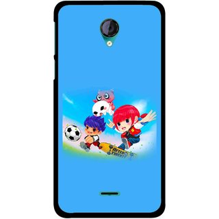 Snooky Printed Childhood Mobile Back Cover For Micromax Canvas Unite 2 - Multicolour