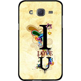 Snooky Printed Love You Mobile Back Cover For Samsung Galaxy J7 - Multicolour