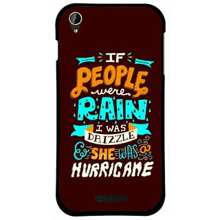 Snooky Printed Monsoon Mobile Back Cover For Lava X1 Mini - Multi