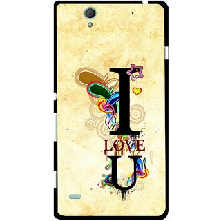 Snooky Printed Love You Mobile Back Cover For Sony Xperia C4 - Multicolour