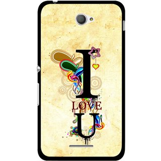 Snooky Printed Love You Mobile Back Cover For Sony Xperia E4 - Multicolour