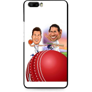 Snooky Printed Play Cricket Mobile Back Cover For Huawei Honor 6 Plus - Multi
