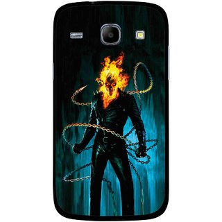 Snooky Printed Ghost Rider Mobile Back Cover For Samsung Galaxy Core - Multicolour