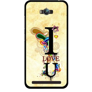Snooky Printed Love You Mobile Back Cover For Asus Zenfone Max - Multicolour