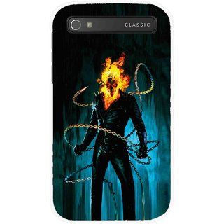 Snooky Printed Ghost Rider Mobile Back Cover For Blackberry Classic - Multicolour