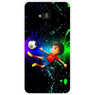 Snooky Printed High Kick Mobile Back Cover For Nokia Lumia 640 - Multicolour