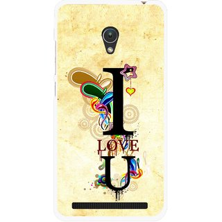 Snooky Printed Love You Mobile Back Cover For Asus Zenfone 5 - Multicolour