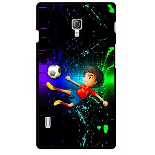 Snooky Printed High Kick Mobile Back Cover For Lg Optimus L7 II P715 - Multicolour