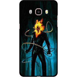 Snooky Printed Ghost Rider Mobile Back Cover For Samsung Galaxy J7 (2016) - Multicolour