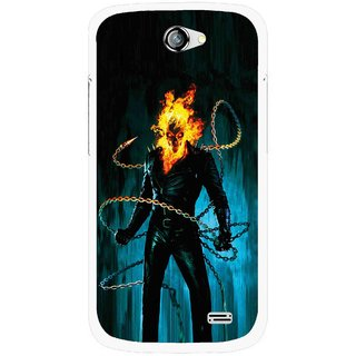 Snooky Printed Ghost Rider Mobile Back Cover For Gionee Pioneer P2 - Multicolour