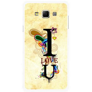 Snooky Printed Love You Mobile Back Cover For Samsung Galaxy E5 - Multicolour