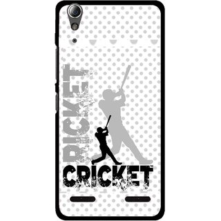 Snooky Printed Cricket Mobile Back Cover For Lenovo A6000 - Multi
