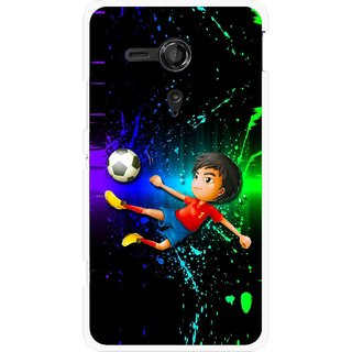 Snooky Printed High Kick Mobile Back Cover For Sony Xperia SP - Multicolour