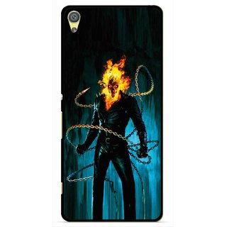 Snooky Printed Ghost Rider Mobile Back Cover For Sony Xperia XA - Multicolour