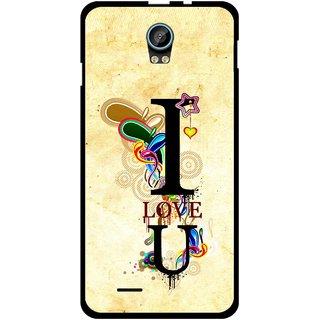 Snooky Printed Love You Mobile Back Cover For Intex Aqua Life 2 - Multicolour