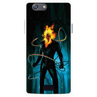 Snooky Printed Ghost Rider Mobile Back Cover For Oppo Neo 5 - Multicolour