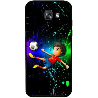 Snooky Printed High Kick Mobile Back Cover For Samsung Galaxy A7 (2017) - Multicolour