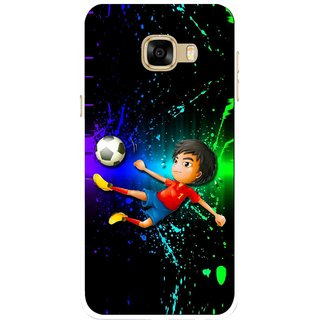 Snooky Printed High Kick Mobile Back Cover For Samsung Galaxy C7 - Multicolour