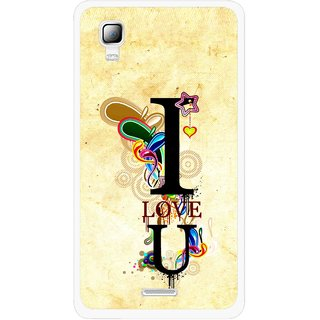 Snooky Printed Love You Mobile Back Cover For Micromax Canvas Doodle 3 A102 - Multicolour