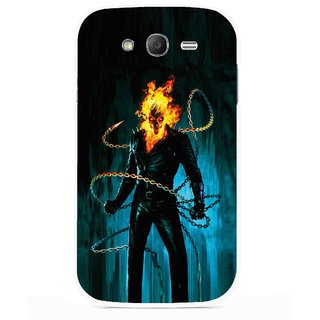 Snooky Printed Ghost Rider Mobile Back Cover For Samsung Galaxy Grand I9082 - Multicolour