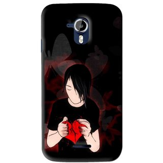 Snooky Printed Broken Heart Mobile Back Cover For Micromax Canvas Magnus A117 - Multi