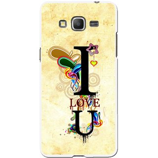 Snooky Printed Love You Mobile Back Cover For Samsung Galaxy Grand Max - Multicolour