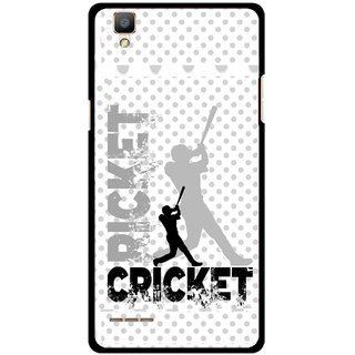 Snooky Printed Cricket Mobile Back Cover For Oppo F1 - Multi