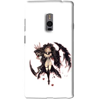 Snooky Printed Kungfu Girl Mobile Back Cover For OnePlus 2 - Multi