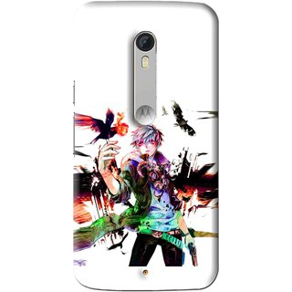 Snooky Printed Angry Man Mobile Back Cover For Motorola Moto X Play - Multi