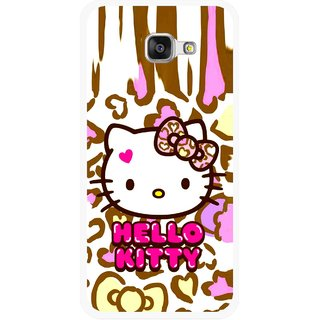 Snooky Printed Cute Kitty Mobile Back Cover For Samsung Galaxy A3 (2016) - Multicolour