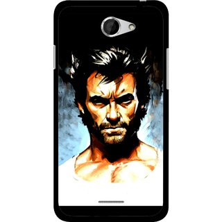 Snooky Printed Angry Man Mobile Back Cover For HTC Desire 516 - Multicolour