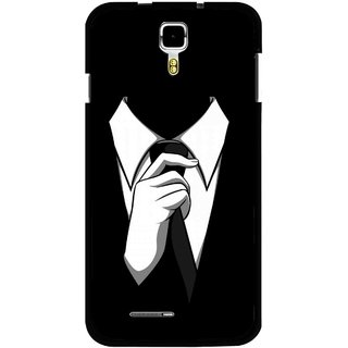 Snooky Printed White Collar Mobile Back Cover For Micromax Canvas Juice A177 - Multicolour