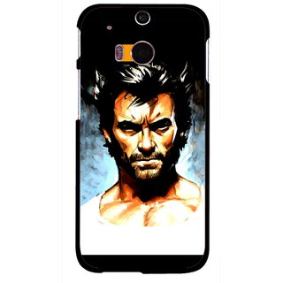 Snooky Printed Angry Man Mobile Back Cover For HTC One M8 - Multicolour