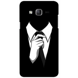 Snooky Printed White Collar Mobile Back Cover For Samsung Galaxy On7 - Multicolour